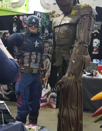 Cap and Groot